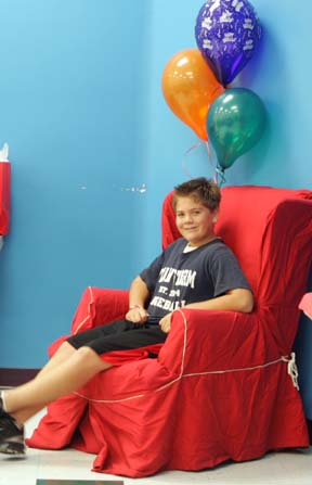 ZACH BIRTHDAY IN Red CHAIR