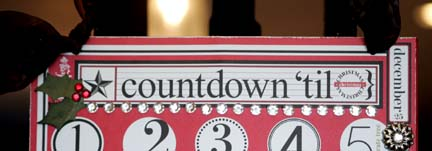 COUNTDOWN to chrISTMAS ADVENT CALENDAR- OASIS