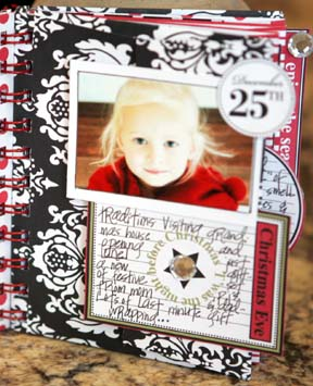 HAPPIEST HOLIDAYS DIECUT CARD BOOK VIEW 3- OASIS