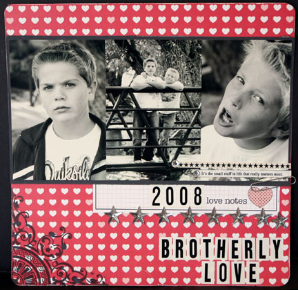 CRUSH- brotherly love layout