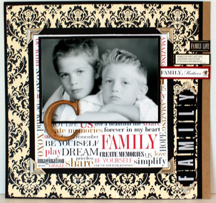 FAMILY C DAMASK -word paper