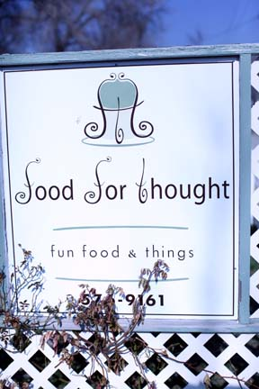 Food for Thought sign