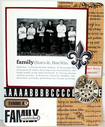FAMILY defined with stamps