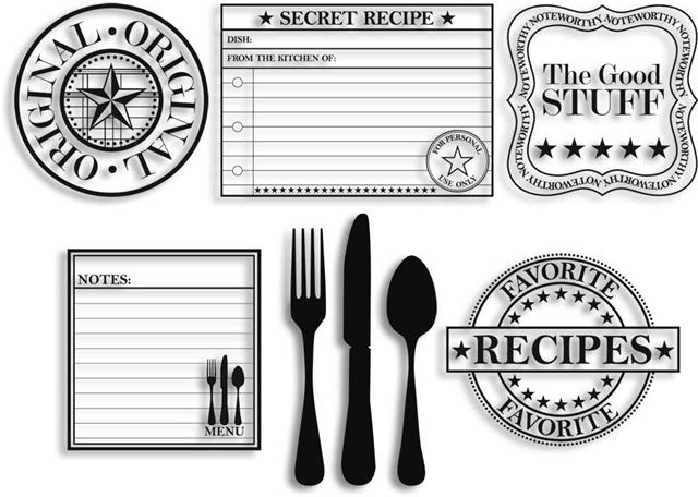 Recipe stamps