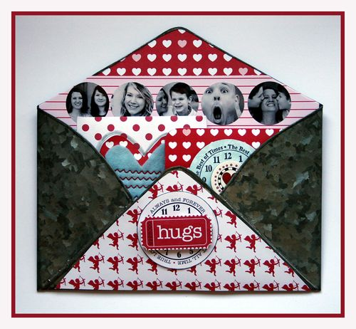 Crush galvanized tin envelope