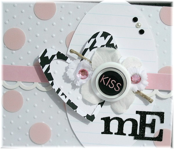 Kiss me card view 2 by Danni Reid