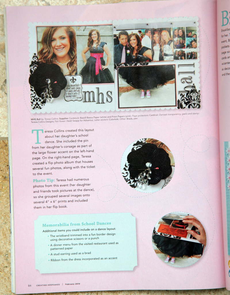 February 2010 TC page Creating Keepsakes Magazine