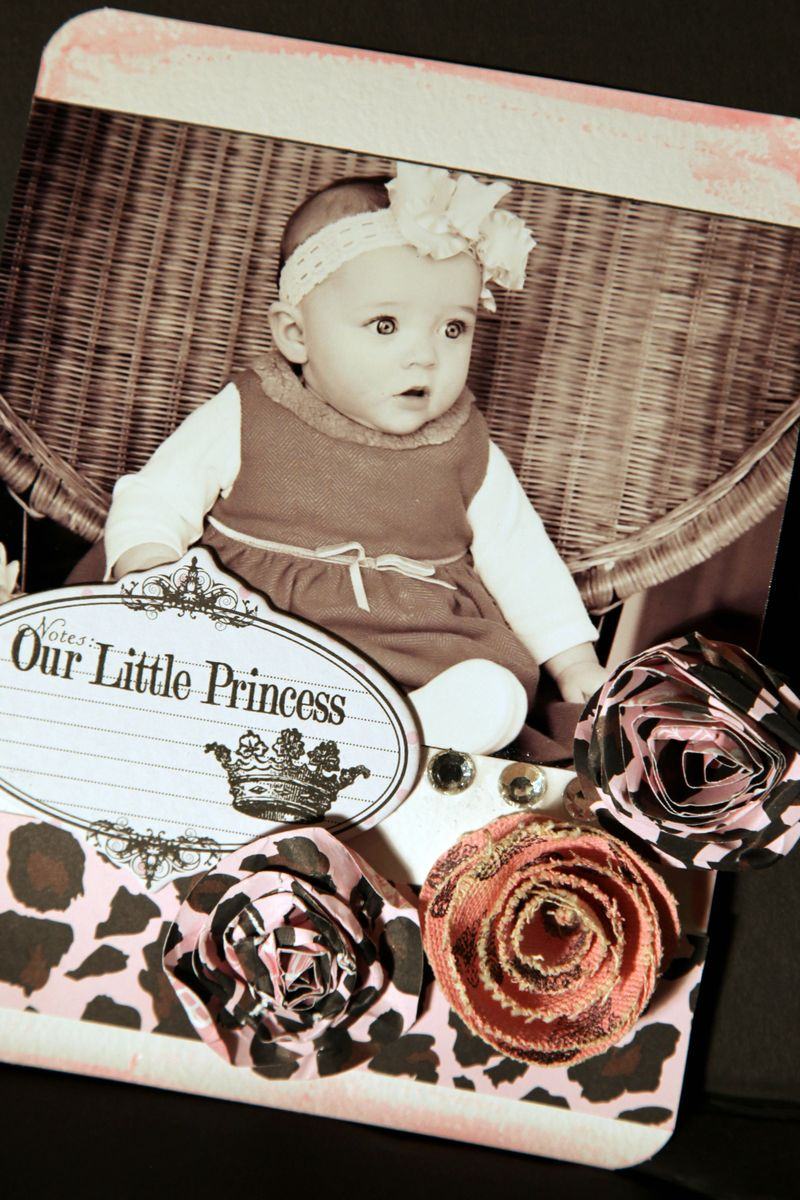 OUr little princess- CANVAS TC pearlz flower & edges
