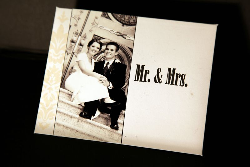 Mr &mrs card