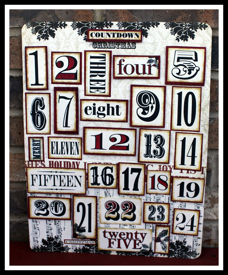 Countdown Christmas Make N take