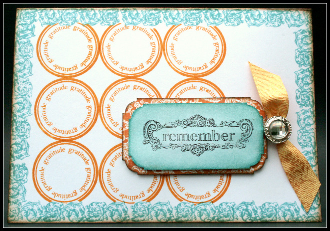 Remember gratitude card