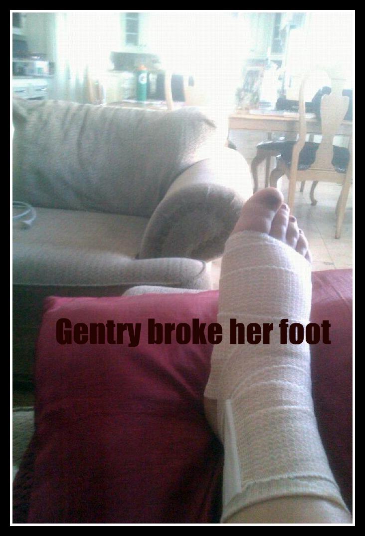 Gentry broken foot