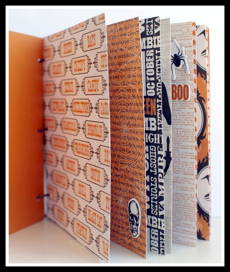 Haunted Halloween 8x8 chipboard inside pages