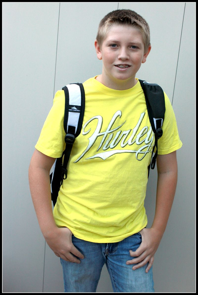 7th Grade- 1st day Ty
