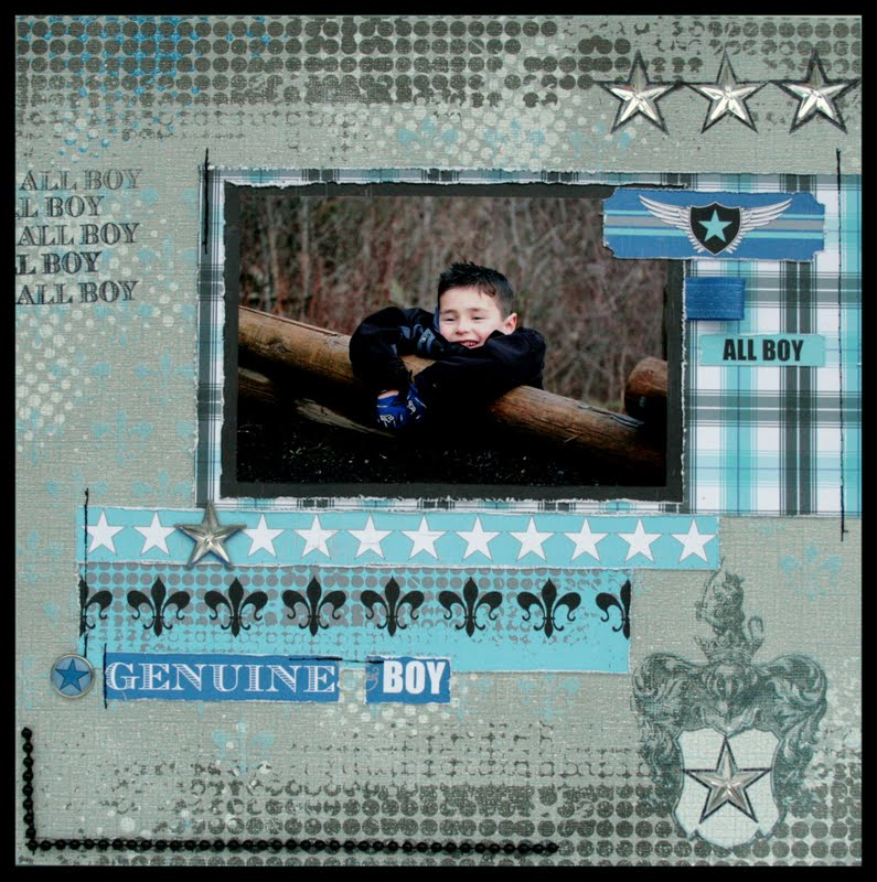 Core'dinations - On The Edge - Cheri - All Boy layout