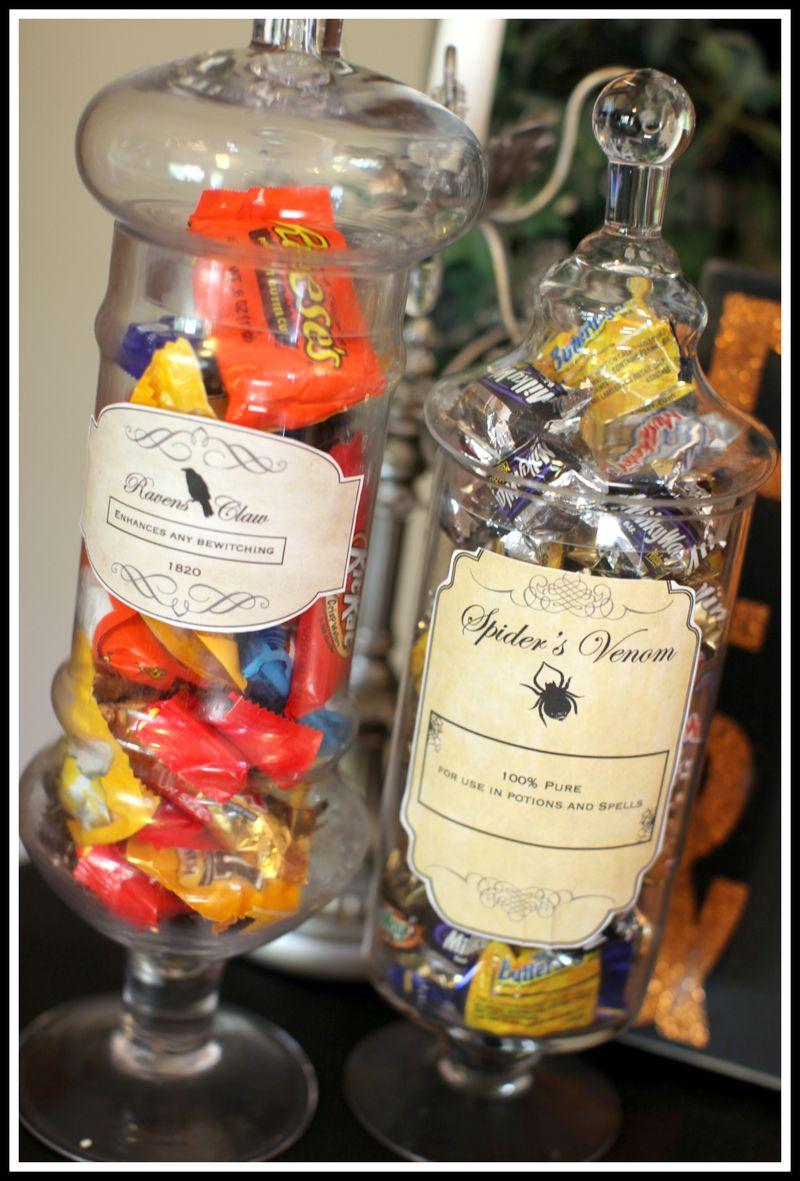 Apothocary jars- labels