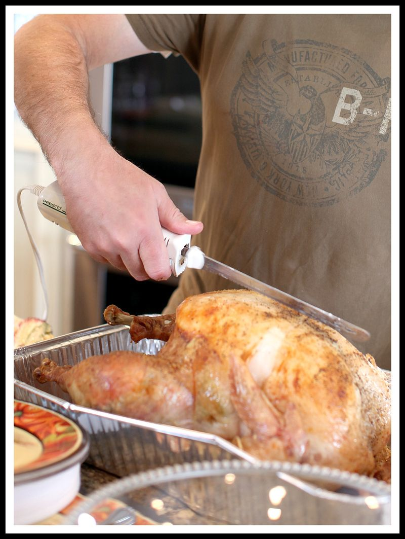Carving turkey- thanksgiving