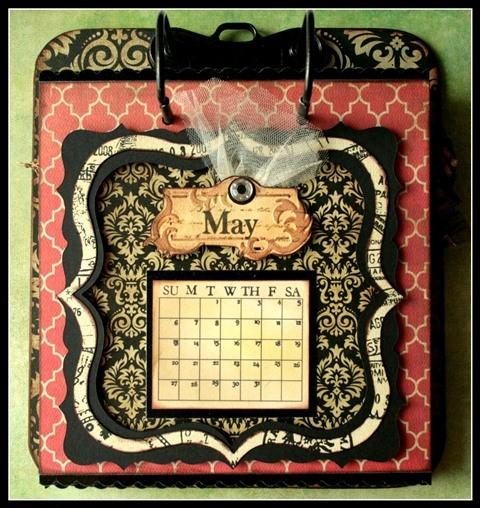 Teresa Collins - world traveler - Cheri - Calendar - May w frame