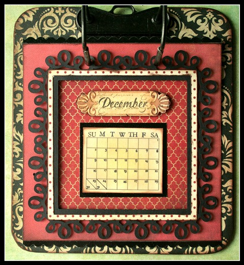 Teresa Collins - world traveler - Cheri - Calendar - December w frame