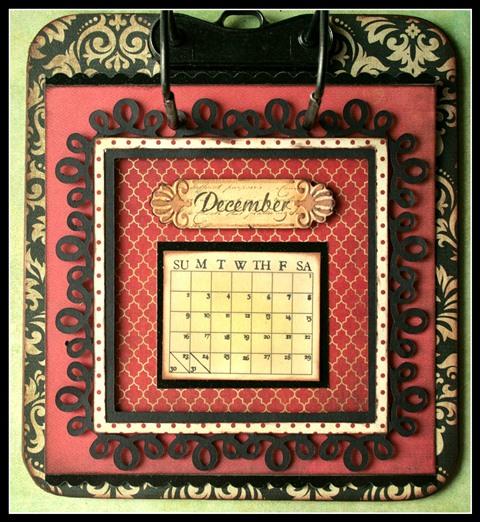 Teresa Collins - world traveler - Cheri - Calendar - December w frame
