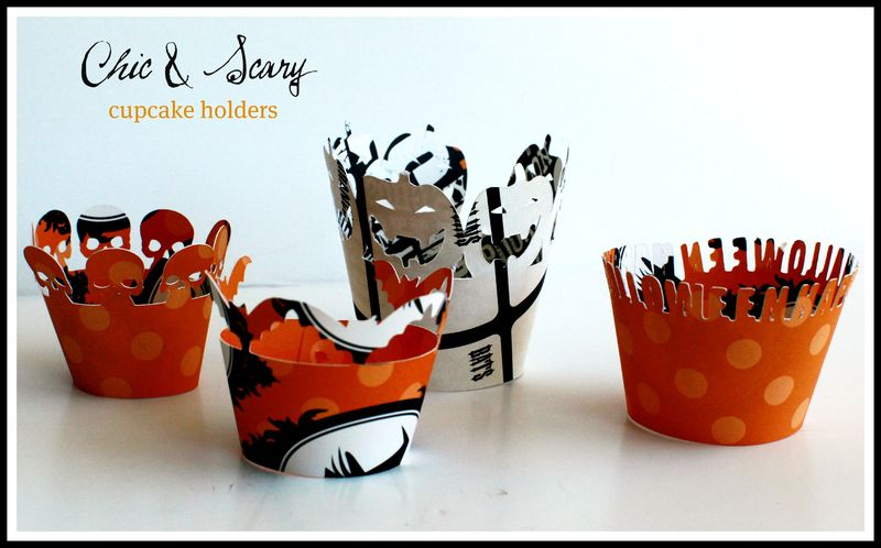 Chic & Scary Teresa Collins cupcake holders
