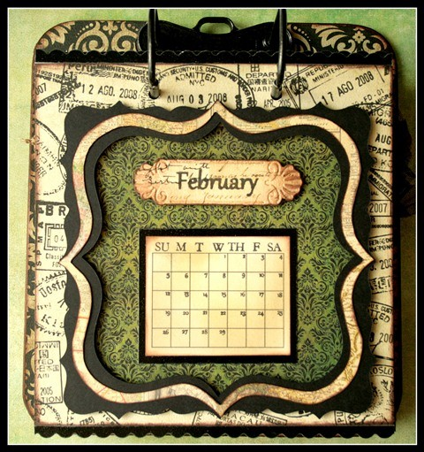 Teresa Collins - world traveler - Cheri - Calendar - february w frame