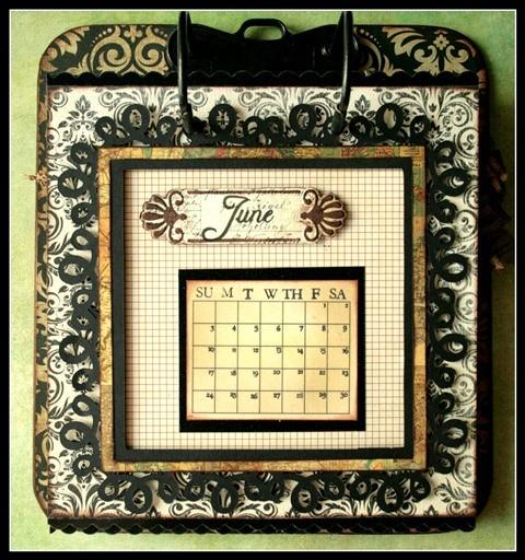 Teresa Collins - world traveler - Cheri - Calendar - June w frame
