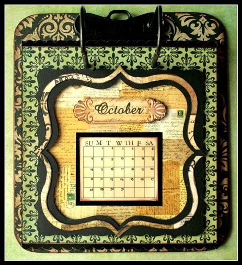 Teresa Collins - world traveler - Cheri - Calendar - October w frame