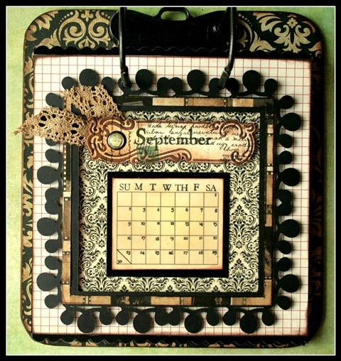 Teresa Collins - world traveler - Cheri - Calendar - September w frame