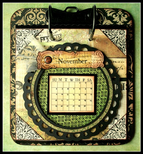 Teresa Collins - world traveler - Cheri - Calendar - November w frame