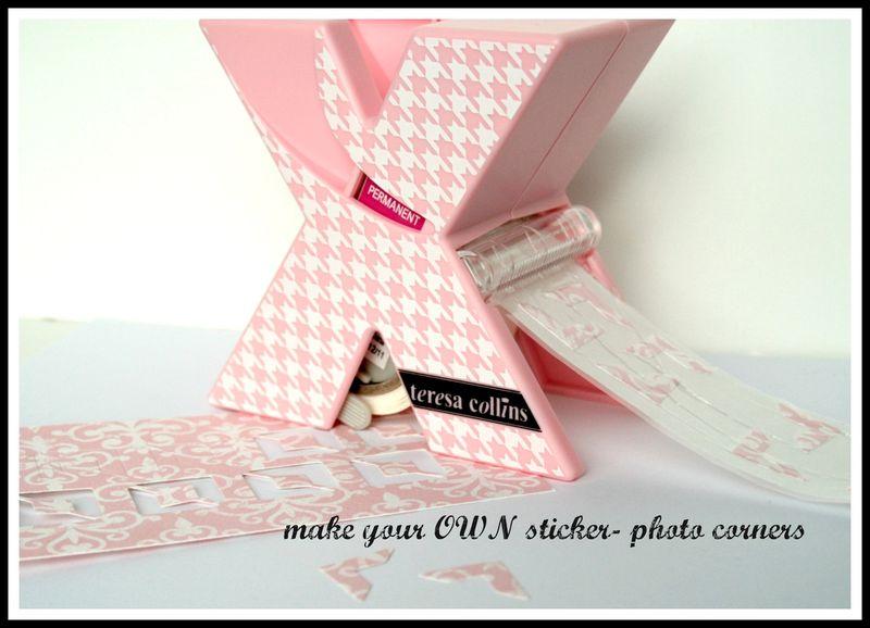 Teresa Collins - Sweet afternoon -Xyron Teresa Collins Sticker maker - Cheri Piles - photo corners