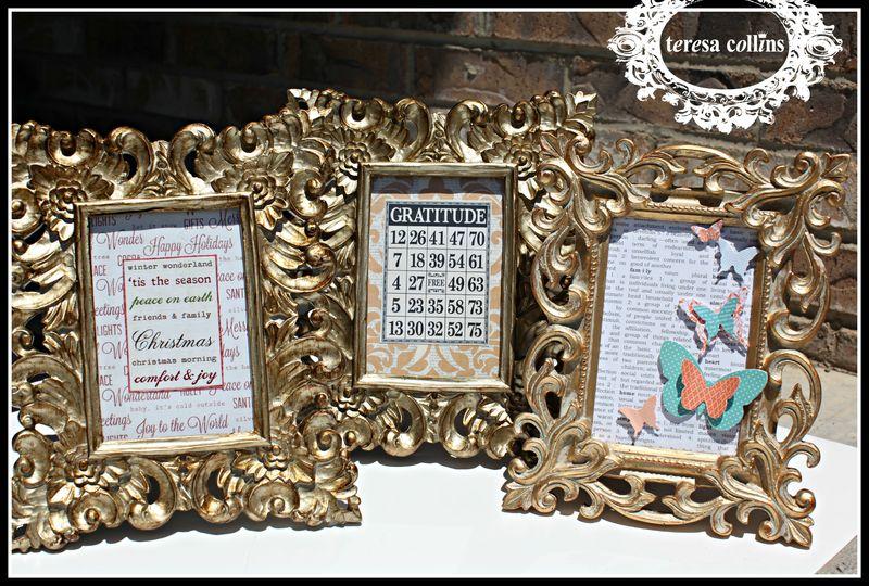 TC Pattern Paper Ornate Frames