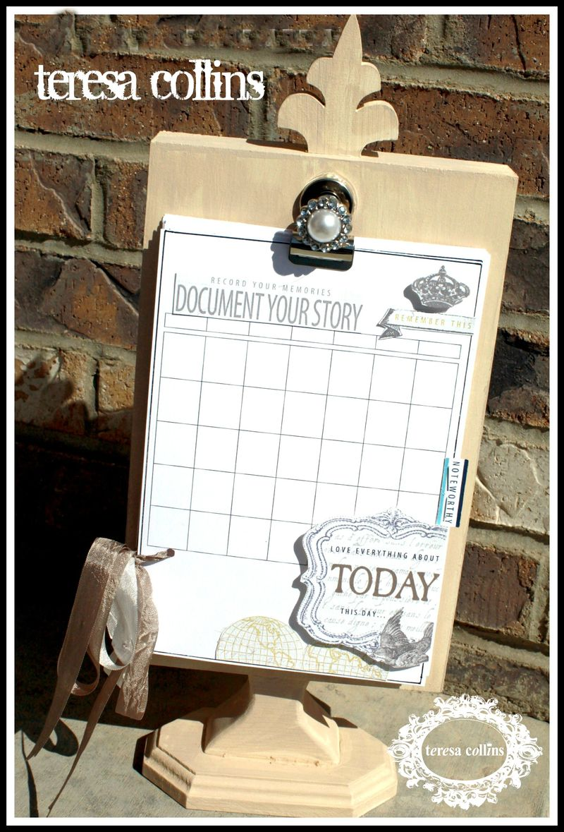 Document YOUR story HOME DECOR display stand