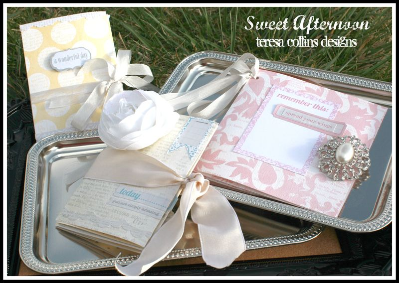SWEET AFTERNOON accordion cards full view