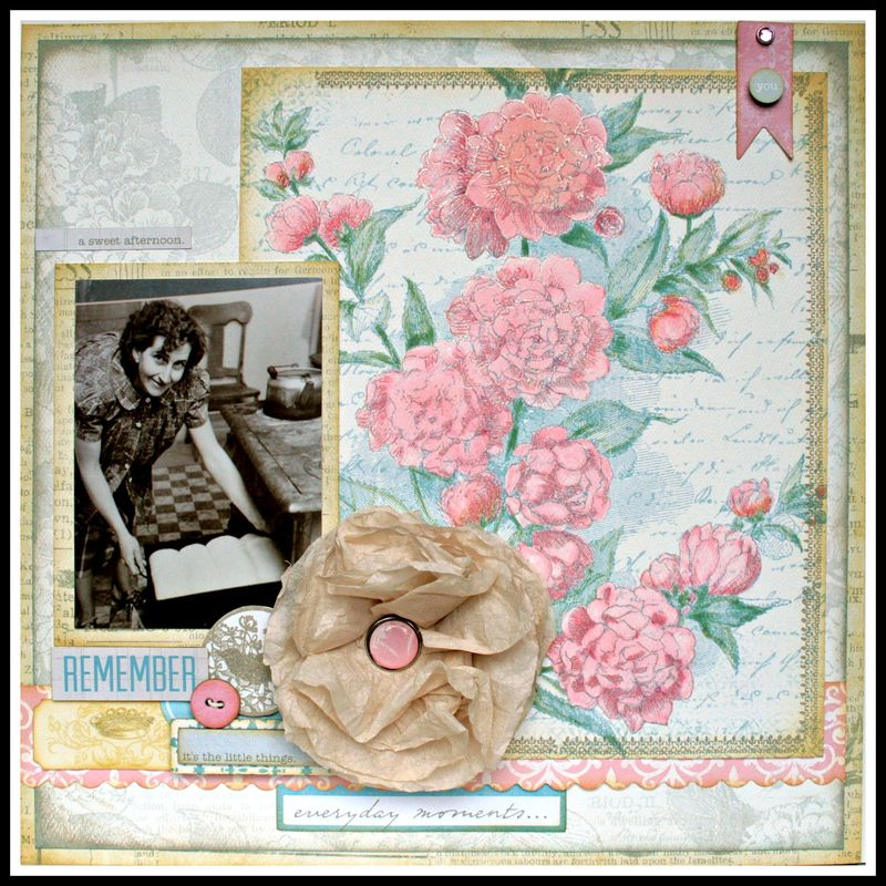Teresa Collins - Sweet Afternoon - layout by Cheri Piles - Full
