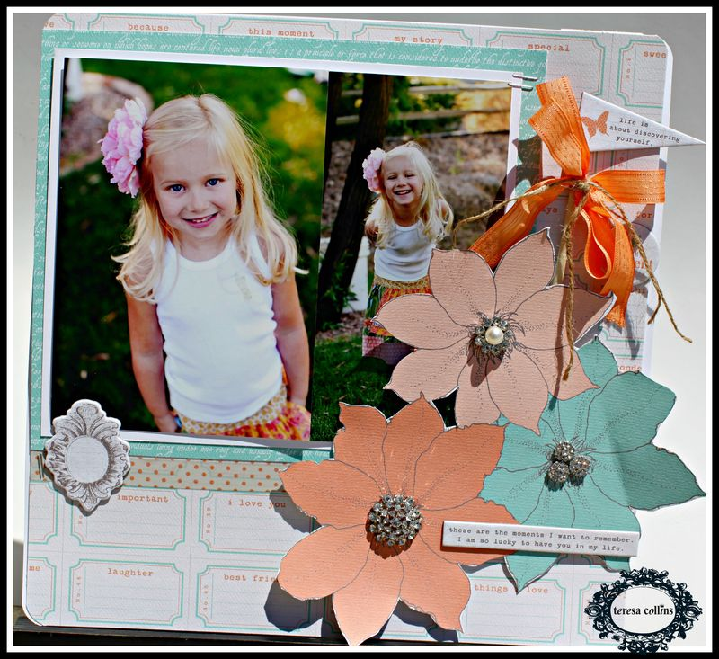 Tell your story rhinestone layout