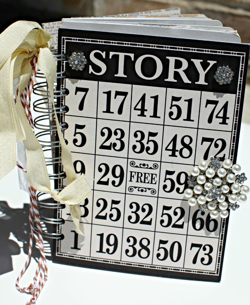 Blog VINTAGE FINDS- STORY chipboard album teresa collins