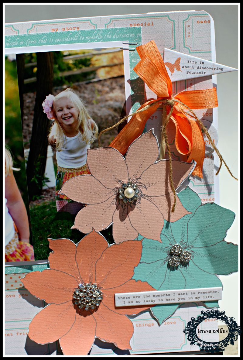 Tell your story rhinestone layout close up
