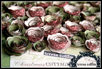 TCD - Christmas Cottage - rosettes by cheri piles