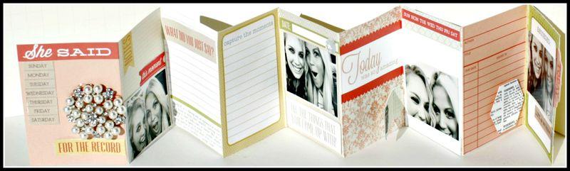 3. SHE SAID- accordion book 3x4