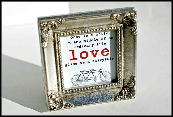 5. STATIONERY- LOVE gold frame