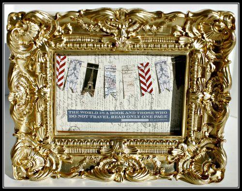 1. FAR & AWAY- travel gold frame