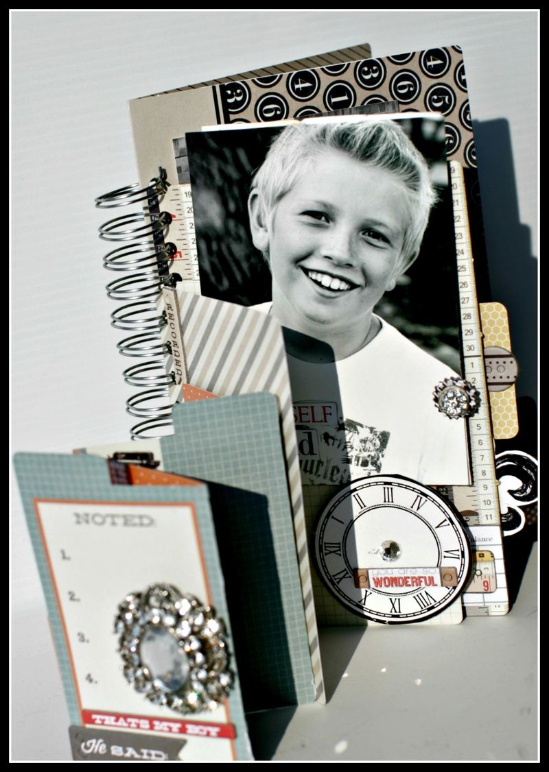 He said- NOTED family file folder book cover