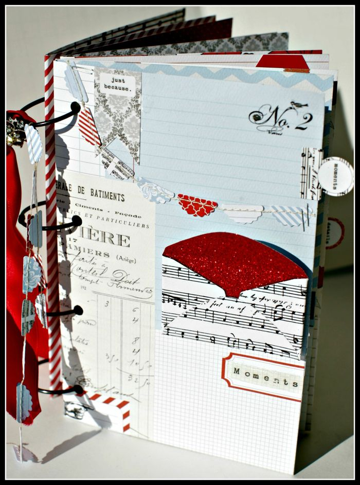 5. Stationery- COVER book w envelopes garland