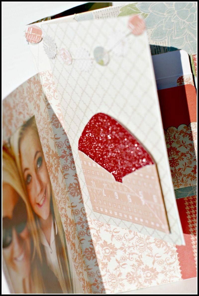 MEMORIES- file folder w garland view 1 glitter envelope