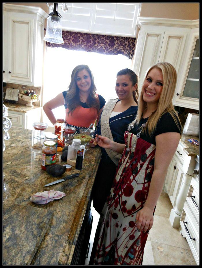 Party 16- making dinner girls