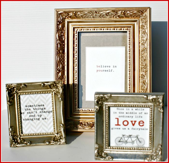 Stationery- FRAMES quotes- gold