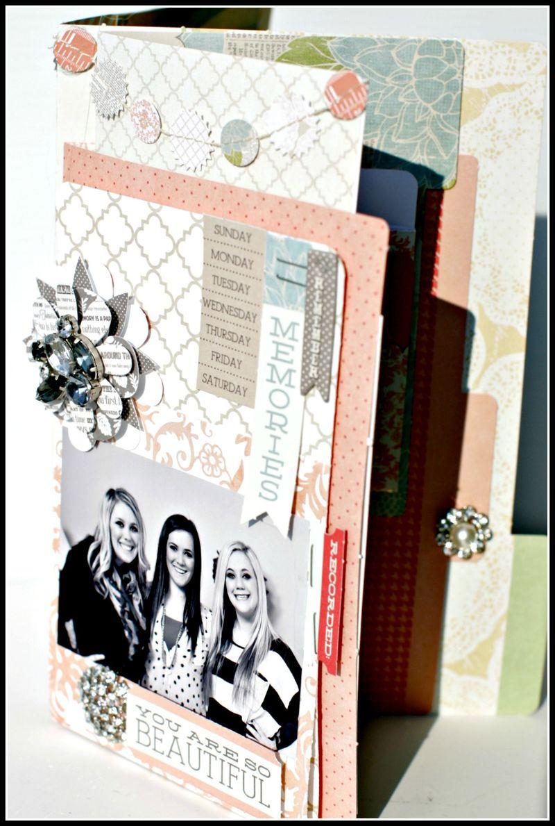 MEMORIES- file folder w garland cover