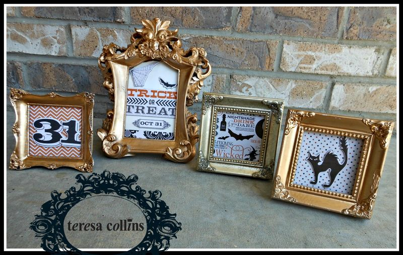 MASQUERADE PARTY TERESA COLLINS GOLD FRAMES