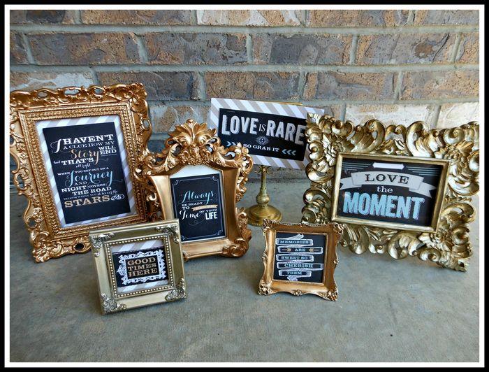 QUOTE frames- memorabilia